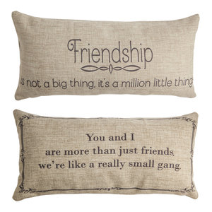 Gift for Friend Message Doublesided Pillow Present Friend Quote Birthday Gift