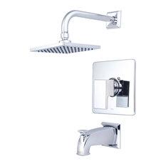 Mod Single Handle Tub and Shower Trim Set, Polished Chrome