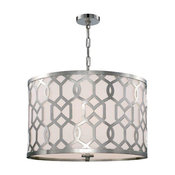 Libby Langdon for Crystorama Jennings 5 Light Polished Nickel Chandelier