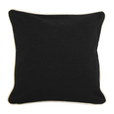 "16""x16"" Pillow With Green Eco Friendly Insert, Black"