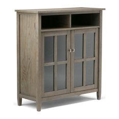 Simpli Home Ltd Warm Shaker Medium Storage Media Cabinet Entertainment Centers And Tv