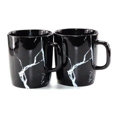 - Marbled Series Mugs (Black) - Cups And Glassware
