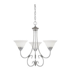 Millennium Lighting Fulton Chandelier, Rubbed Silver