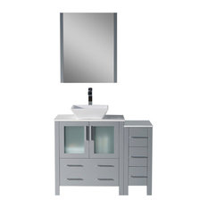 "Sydney 42"" Vanity Set With Vessel Sink and Side Cabinet"