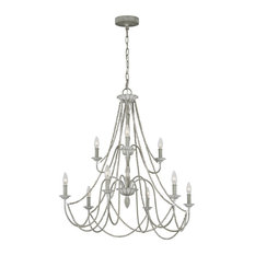Murray Feiss Maryville Nine Light Chandelier F3241/9WGR