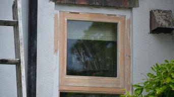 Renovation of wooden windows in Cambridge