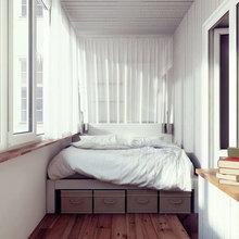Выполненные работы по отделке балконов и лоджий