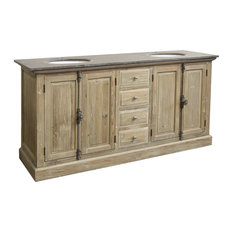 "71"" Reclaimed Pine Double Bath Vanity"