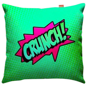 Comic Crunch Green Sofa Cushion, Large, 80x80 cm, Regular