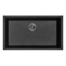 Black Granite Composite Single Bowl Kitchen Sink