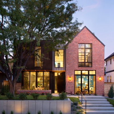 Example of a trendy exterior home design in Denver
