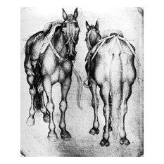 """Antonio Pisanello The Horses, 20""""x25"""" Gallery Wrapped Canvas Print"""