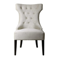 Arlette Tufted Wing Chair By Designer Jim Parsons