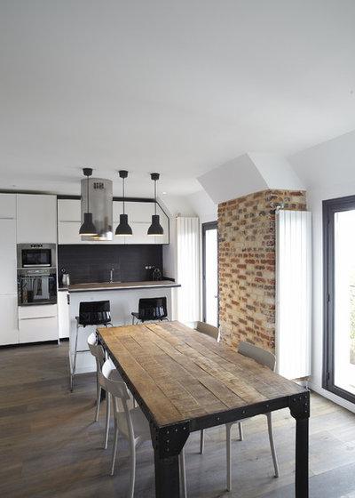 envie d 39 authenticit 14 id es d co pour int grer du bois sa cuisine. Black Bedroom Furniture Sets. Home Design Ideas