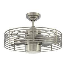 "Enclave 23"" Satin Nickel Ceiling Fan"