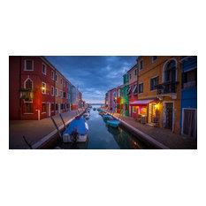 "Home To Burano, Canvas Giclee, 20""x10"""