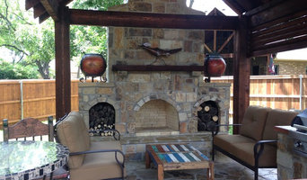 Cedar Pavilion, Outdoor Kitchen and fireplace