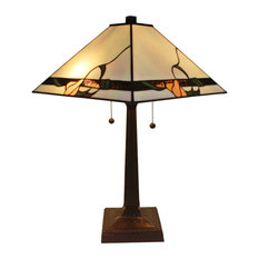 Amora Lighting Am057Tl14 Tiffany Style Mission Table Lamp 23""