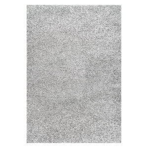 Cozy Soft and Plush Solid Easy Shag Area Rug, Silver, 8'x10'