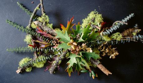 Ein saisonales Tischgesteck: Herbst- und Winterdeko