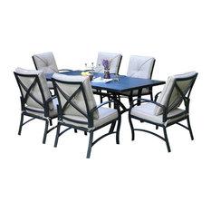 "Sinclair 7-Piece Dining Set, 42x72"" Round Dining Table"