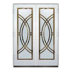 Glass Front Entry Door Sans Soucie Art Glass Arcs II