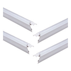 4-PACK 1m/3.3ft Aluminum Ladder-Shape Channel