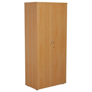 Modern Storage Cabinet, Solid Beech Wood With 2-Door and Internal Shelf