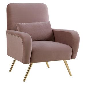 Clarissa Velvet Chair, Pink