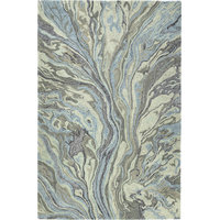 Kaleen Marble Blue Hand-Tufted Rug, 8'x11'