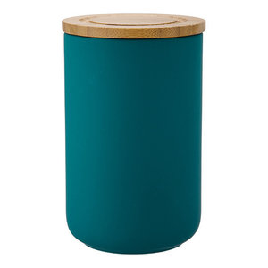 Ladelle Stak Soft Matte Teal Canister, 17 cm