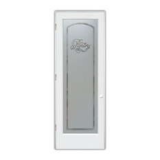 """Pantry Door, Melany, Negative Frosted, Primed, 24x80"""", Right/Pull"""