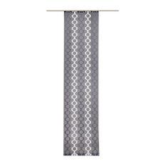 Wabi Panel Curtain, Coal Grey