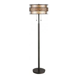 Renaissance Copper Floor Lamp - 2 x 60W E27