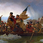 """Limitless Walls - George Washington Crossing The Delaware River Painted Wall Mural, 133"""" x 88"""" - All of our wall murals are printed on a 7 mil polyester fabric making it the easiest wallpaper/wall mural product to install on a wall. Not only is it easy to install but it adds a thick layer of protection from the bumps and rubs of everyday life. The wall murals are washable with soap and water. Everything we print is removable and repositionable countless times without damaging the walls nor the paint on the walls. Our products are also GREEN! All of our products are P.V.C. free."""