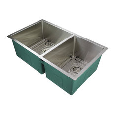 Transolid Diamond 14 Gauge 60/40 Double Undermount Stainless Steel Tapered Sink