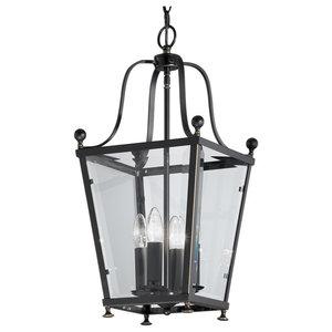 Atrio Bronze Ironwork 4-Light Lantern, Small