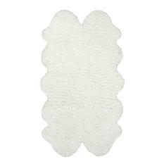 """Hand-Tufted Quarto Pelt Shag Area Rug, Natural, 3'6""""x6'"""