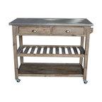 Sonoma Kitchen Cart, Driftwood Gray
