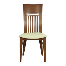 Paolo Beech Wood Dining Chairs, Set of 2