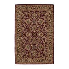 "Traditional Burgundy Rug, 2'3""x7'6"", India House IH17 Nourison Rugs"