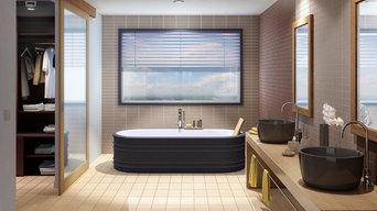 Terreal pour les salles de bain