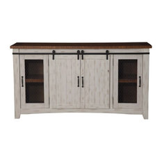 Raw - Gallardo Media Console, Antique White - Entertainment Centers and Tv Stands