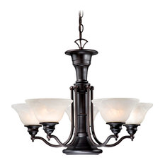 Vaxcel CH30306OBB Standford 6-Light Chandelier Oil Burnished Bronze
