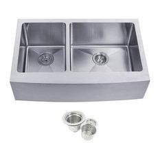Stainless Steel Undermount Farmhouse 40/60 Double Bowl Kitchen Sink