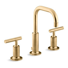 Kohler Purist Widespread Lavatory Faucet Vibrant Moderne Brushed Gold Bathroom Sink Faucets