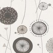 Pandora, Textile Flower Frond Graphic Striped Wallpaper Roll Wall Decor