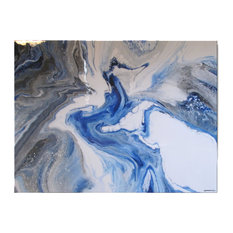 """Contemporary Modern Resin Coated Limited Edition Painting 48""""x36"""" by Eloisexxx"""