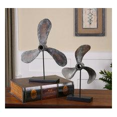 Uttermost Propellers Rust Sculptures, Set of 2