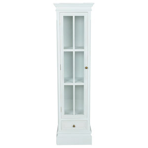 vidaXL White Shabby Wooden Chic Bookcase Cabinet With 3 Shelves